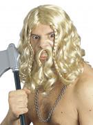 Vikingeparyk med overskæg til voksne