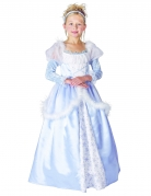 Blå prinsesse udklædning til børn