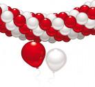 Rødt og hvidt dekorationssæt