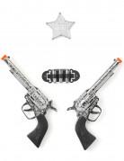 Sæt med 2 plastikpistoler barn