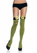 Bi-strømpebukser med gul pynt