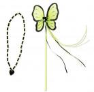 Grøn prinsesse tryllestav og halskæde