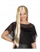 Lang og glat blond paryk kvinde