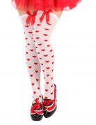 Hvide strømpebukser røde hjerter