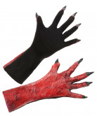 Dæmonhænder Røde Voksen Halloween