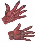 Djævlehænder Røde Voksen Halloween