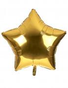 Ballon aluminium kæmpe stjerne guld 80 cm