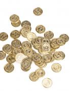 144 guldfarvede mønter