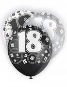 Balloner 6 stk. 18 år