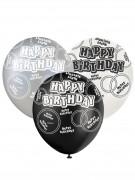 Ballon grå Happy Birthday