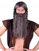 Paryk viking med skæg til voksne