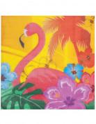 12 Papirservietter lyserød flamingo 33 x 33 cm