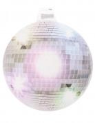 Vægdekoration med disko-kugle sølvfarvet