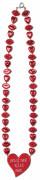 Halskæde med røde munde og hjerter Valentinsdag