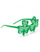Sjove briller med grønne firkløvere Skt. Patricks dag