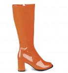 Lakstøvler orange kvinde
