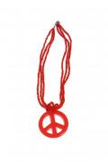 Rød hippiehalskæde
