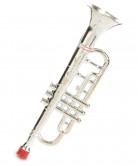 sølvfarvet Plastictrompet