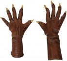 Handsker brun varulv voksen Halloween