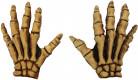 Handsker gul skelet voksen Halloween