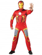 Rødt og gult Ironman™ kostume til voksne