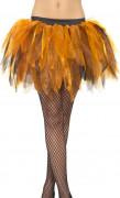 Ballerinaskørt orange/sort kvinde