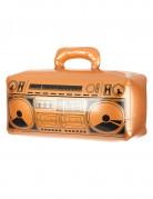 Oppustelig guldfarvet radio