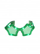 Grønne stjerneformede LED-briller
