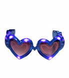 Blå hjerteformede LED-briller