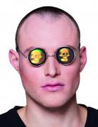 Runde briller med dødningehoveder