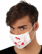 Hvid blodbestænket halloween-maske