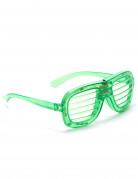Grønne hjerteformede briller med LED-lys