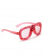 Røde briller med LED-lys