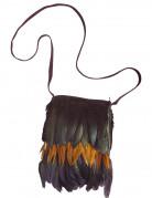 Indianer håndtaske med fjer