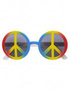 Flerfarvede hippiebriller til voksne