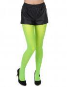 Neongrønne strømpebukser voksne