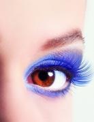 Korte blå kunstige øjenvipper voksne