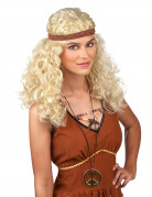Blond hippieperuk dam