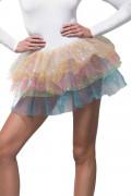 Regnbuefarvet ballerinakjole med pailletter kvinde
