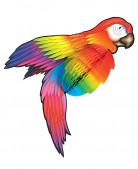 Papegøje dekoration 76 cm
