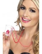 Kinky glas halskæde med tissemand voksen