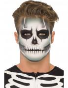 Selvlysende skeletsminkesæt Halloween voksen