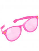Lyserøde kæmpebriller voksen