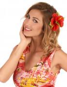 Hårclips med rød Hawaii blomst
