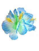 Hårclips Hawaii blomst blå