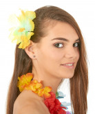 Hårspænde blomster gul Hawaii