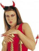 Røde djævlehorn med sort pels til voksne