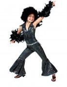 Sort glinsende disco kostume til piger