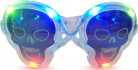 Lysende dødningehovedformede briller
