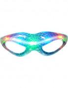 Gennemsigtige lysende briller med spindelvævsmønster